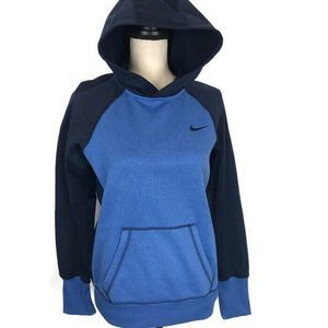 Nike All Time Therma Fit Blue Fleece Sports Hoodie